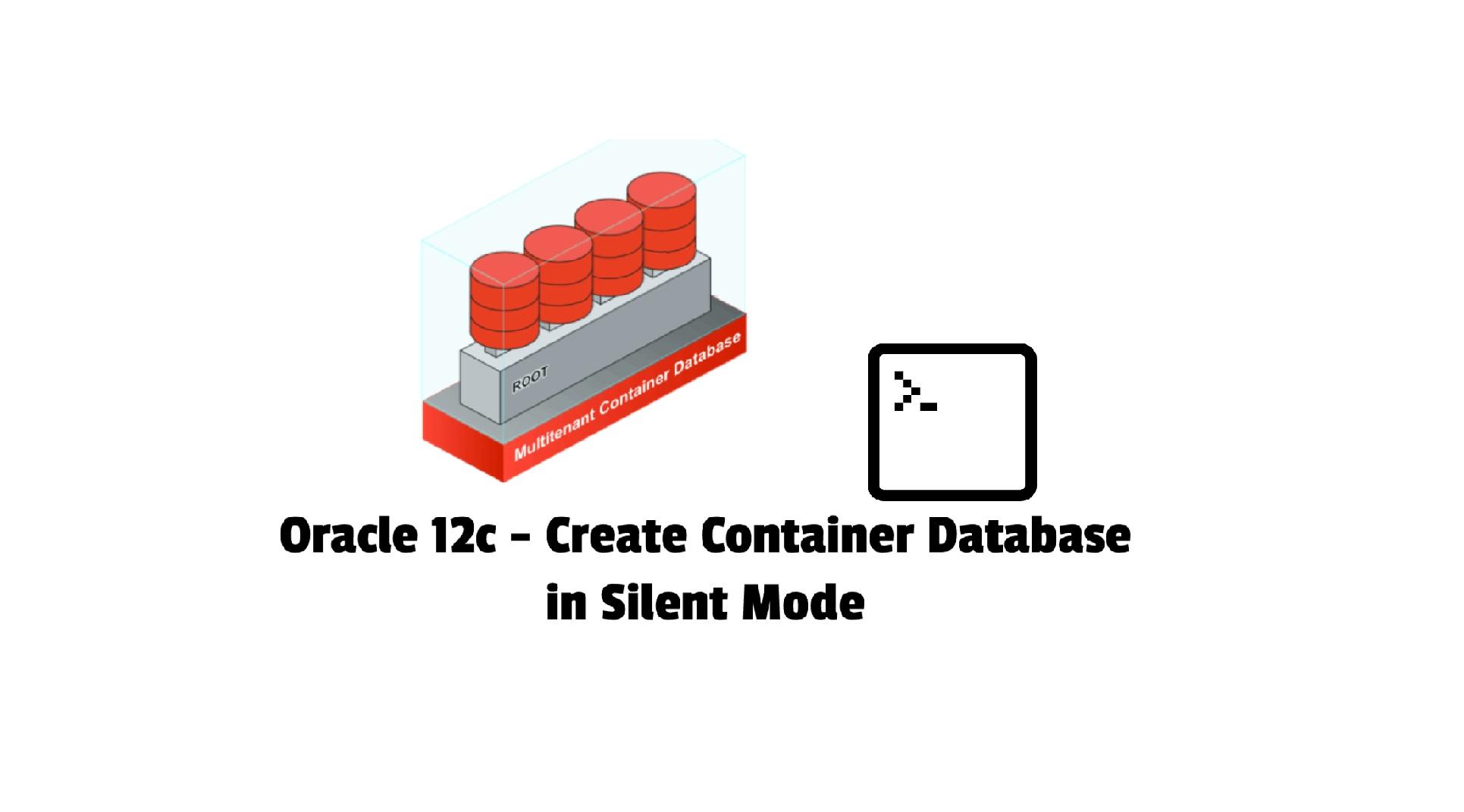 create cdb in silent mode